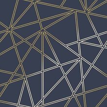3D Spitze Geometrische Tapete Dreiecks Metallic
