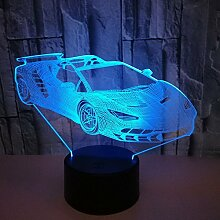 3D Sportwagen Lampe USB Power 7 Farben Amazing