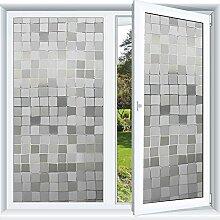 3D Statische Aufladung Datenschutz Fenster Film Glasaufkleber Glasfilm (45 X 200cm)
