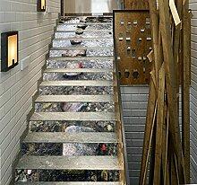"3D Stein Brücke Fluss 51 Stair Risers Dekoration Fototapete Vinyl Aufkleber Tapete DE Carly (13x H:18cm x W:102cm (7""x40""))"