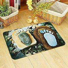 3D Stein Fußauflage, personalisierte Mode Tür, Eingang, Haus rutschfeste Matten, Bad Matten, Teppich , #1 , 60*90cm