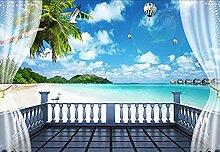 3D Stereo Fenster Malediven TV Hintergrund