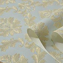 3D Stereo Luxus im europäischen Stil Tapete Schlafzimmer Wohnzimmer Sofa geprägte Tapeten 0,53 m * 10 m, eine Version von Ja905, nur das Hintergrundbild