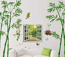 3D Stereo Wallpaper Bedroom Wall Decor Bamboo Sofa