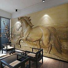 3D Stereoskopische Relief Pferd Hintergrund