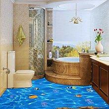 3D Submarine Fischboden Malerei selbstklebend