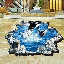 3D Submarine Jump Wale Meer Wand Aufkleber Home Aufkleber PVC Wandmalereien, Vinyl, Papier, House Dekoration Tapete Wohnzimmer Schlafzimmer Küche Kunst Bild DIY für Kinder Teen Senior Erwachsene Kinderzimmer Baby