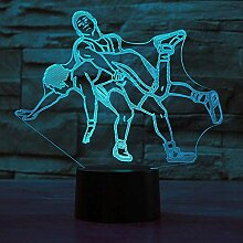 3D Taekwondo Wrestling Optische Illusions Lampe 7