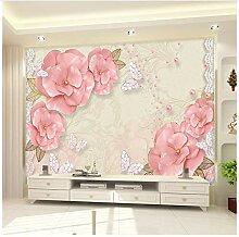 3D Tapete 3D Tapete Für Die Wand Rose Flower
