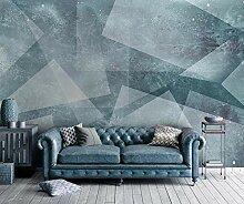 3D Tapete Abstrakte Blaue Geometrische Quadrate