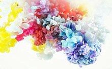 3D Tapete Abstrakte Fantasie Tintenfarbe Rauch