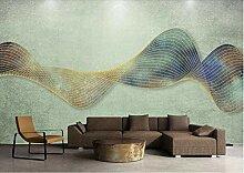 3D Tapete Abstrakte Goldene Linien Bunte