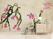 3D Tapete Abstrakter Grüner Kaktusweinlese