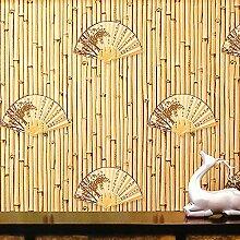 3D Tapete Bambusimitation Ventilator Teehaus Café