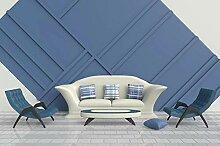 3D Tapete Blaue Geometrische Moderne Nähte