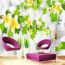 3D Tapete, Blumenfototapete, Weißes