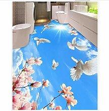 3D Tapete Boden Für Wohnzimmer Blumen Himmel