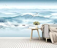 3D Tapete Chinesische Tintenlandschaft Fototapete