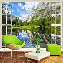 3D Tapete D Fototapeten Klassische Fenster See