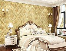 3D Tapete Damaskus 3D Wanddeko 53Cmx10M,Golden