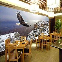 3D Tapete Effekte Adler Vlies Tapete Riesiges Bild