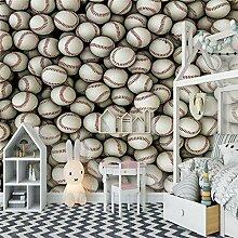 3D Tapete Effekte Baseball Vlies Tapete Riesiges