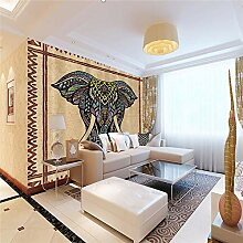 3D Tapete Effekte Elefant Vlies Tapete Riesiges