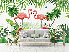 3D Tapete Effekte Flamingo Vlies Tapete Riesiges