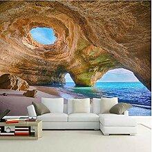 3D Tapete Effekte Höhle, Meer Vlies Tapete