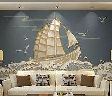3D Tapete Effekte Segelboot Fototapete Modern