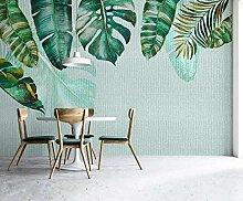 3D Tapete Einfache Und Frische Grüne Blätter