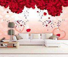 3D Tapete Einfache Und Romantische Rote