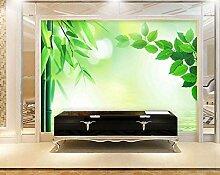 3D Tapete Fototapete Grüne Blätter Einfach