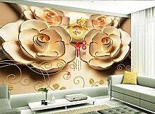 3D Tapete Fototapete Relief Rose Blume Chinesisch