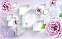 3D Tapete Fototapete Rose Blume Geometrischen