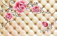 3D Tapete Fototapete Rose Blume Reben