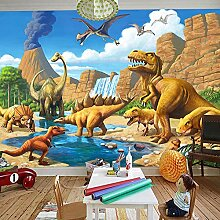 3D-Tapete für Kinderzimmer, Motiv Dinosaurier,