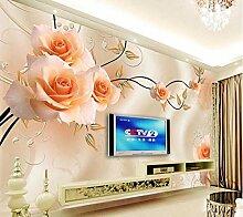 3D-Tapete für Wände Romantik Fashion Dream Rose