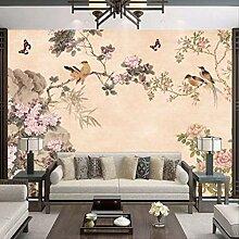 3d-tapete Für Zimmer Modern Butterfly Blumenvogel