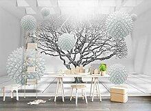 3D Tapete Geometrischer Raum Der Großen Baumkugel