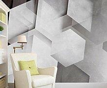 3D Tapete Geometrisches Quadrat Schwarz Weiß