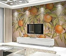 3D Tapete Geprägte Abstrakte Kumquat Vintage