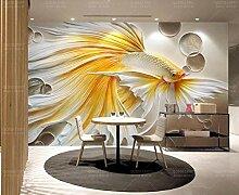 3D Tapete Geprägte Goldene Chinesische Malerei