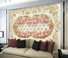 3D Tapete Geprägtes Blumenmarmormuster Fototapete