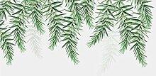 3D Tapete Grüne Tropische Pflanze Verlässt