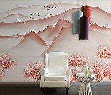 3D Tapete Handgemalte Abstrakte Rosa