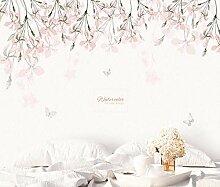 3D Tapete Handgemalte Kirschblüte Rosa Blumen
