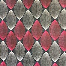 3D-Tapete in symmetrischem Retrodesign, modern,