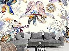 3D-Tapete mit Federn und Federn für Wohnzimmer,