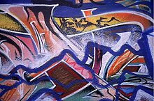3D-Tapete mit Graffiti-Motiv, für Wohnzimmer, TV,